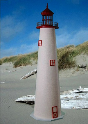 4 Foot Cape May E-Line Stucco Lighthouse