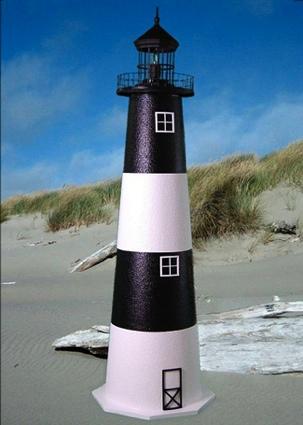 4 Foot Fire Island E-Line Stucco Lighthouse