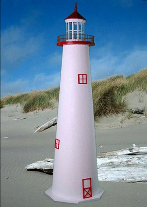 5 Foot Marblehead E-Line Stucco Lighthouse