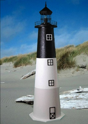 3 Foot Oak Island E-Line Stucco Lighthouse