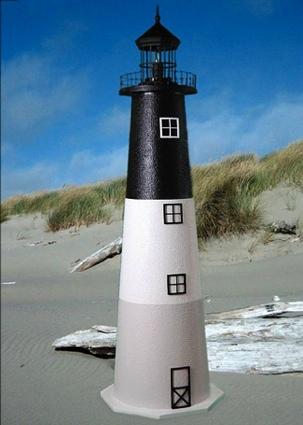 5 Foot Oak Island E-Line Stucco Lighthouse