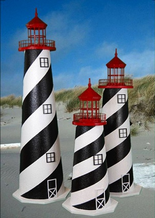 3 Foot St. Augustine E-Line Stucco Lighthouse