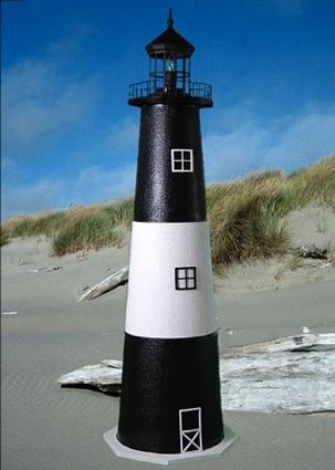 3 Foot Tybee Island E-Line Stucco Lighthouse