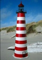 4 Foot West Quoddy E-Line Stucco Lighthouse
