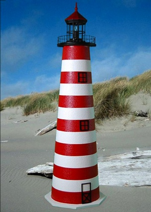 5 Foot West Quoddy E-Line Stucco Lighthouse