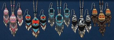 Hand-painted Earring & Necklace Set assorted styles