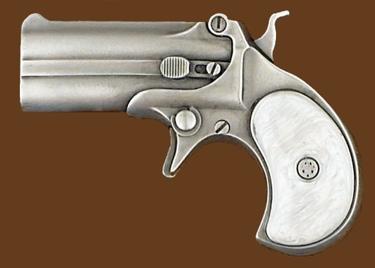 Derringer Belt Buckle 4-1/2 x 3-1/4