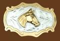 Horsehead German Silver Belt Buckle 3-1/4 x 2