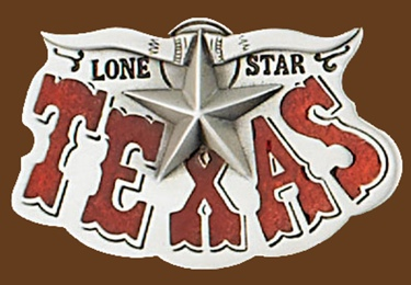 z Texas Lone Star Belt Buckle 3-1/2 x 2