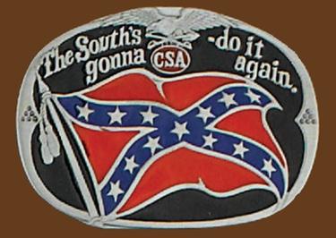 Souths Gonna do it again Belt Buckle 3-1/2 x 2