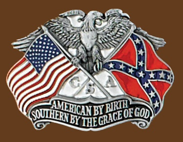Southern By The Grace of God Belt Buckle 3 x 2-1/4