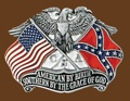 Southern By The Grace of God Belt Buckle 3 x 2-1/4