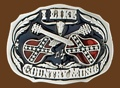 I Like Country Music Belt Buckle 3 x 2-1/4