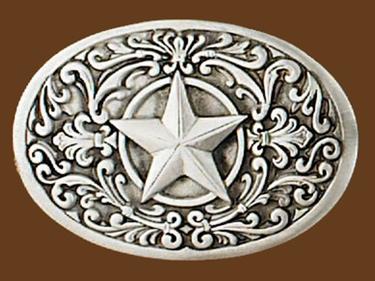 Western Star Belt Buckle 3-3/8 x 2-1/4
