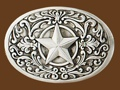 Western Star Belt Buckle 3-3/8 x 2-1/4