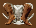 z Boots & Hat Belt Buckle 3-1/4 x 2-1/4 z
