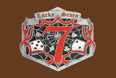 Lucky Seven Belt Buckle 4 x 3-1/2