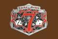Lucky Seven Belt Buckle 4 x 3-1/2