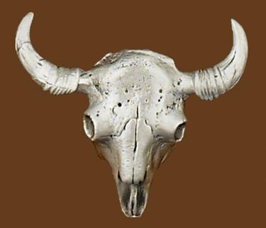 Buffalo Skull Belt Buckle 3-3/8 x 2-7/8