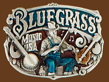 Bluegrass Belt Buckle 3x2