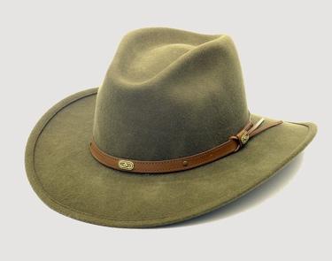 *KHAKI*wool crush hat