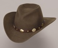 Wool Felt Crushable Hat/Brown w/gold conchos