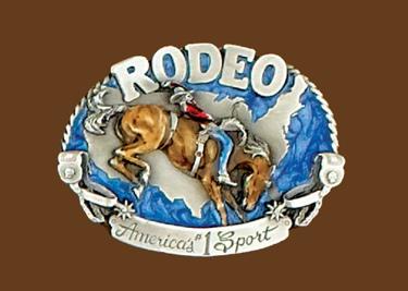 Rodeo Americas #1 Sport Belt Buckle 3 x 2-1/4