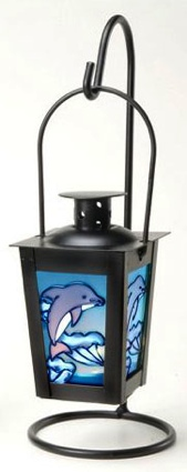10 Inch Hanging Dolphin Nautical Candle Holder