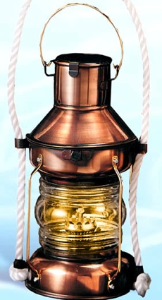 9.5 Inch Anchor Oil Lantern Nautical Candle Holder