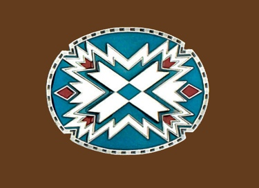 Southwestern Oval Belt Buckle 3-1/4 x 2-1/2