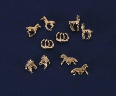 Post Earrings/Horses/Assorted/GOLD