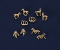 Post Earrings/Horses/Assorted/GOLD