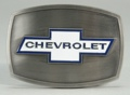 Chevy Buckle stainless background