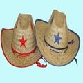 Palm Straw Hat/Sheriff/Blue