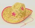 Palm Straw Hat/Sherrif/PINK