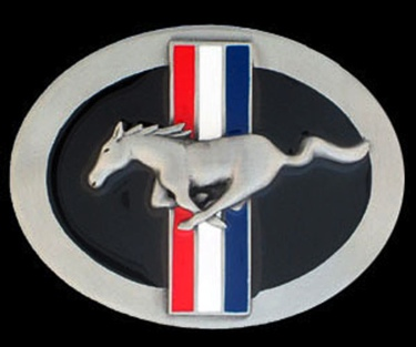 Ford Mustang Belt Buckle Enameled 3-1/4 x 2-1/2