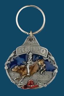 Rodeo Bullrider Key Ring Enamel