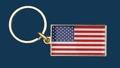 U.S.A. Key ring