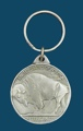 Indian Head & Buffalo Key Ring