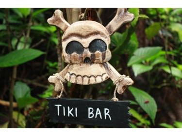 Tiki Bar Skull And Bones Sign Cross Bones Decor