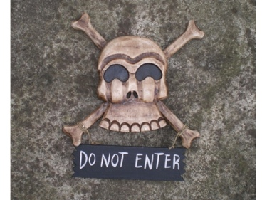 Do Not Enter Skull And Bones Sign Cross Bones Decor