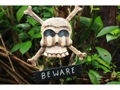Beware Skull And Bones Sign Cross Bones Decor