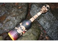 Skull Bones W Flames Oar Paddle Harley Davidson Skull Decor