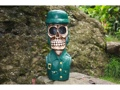 Skull Soldier Statue 16 Pop Art Cross Bones Decor