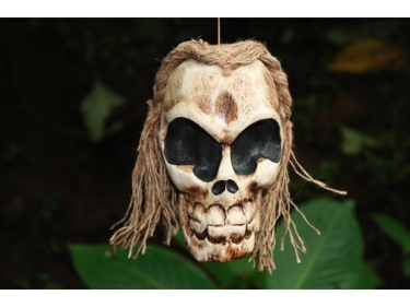 Girly Skull Wall Mask 8 Cross Bones Skull Decor