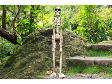 Skeleton Statue 40 Crossbones Halloween Decor