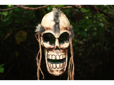 Afro Skull Wall Mask 10 Cross Bones Skull Decor