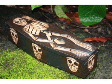Medium Treasure Chest Box 12 Skull Bones Decor