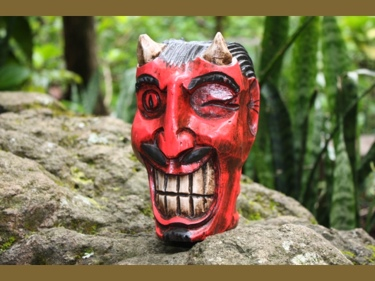 Lucky Devil Book Stand 10 Skull Devil Decor