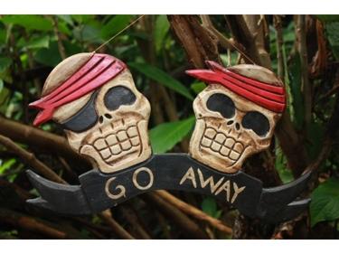 Go Away Pirate Sign 12 Pirate Decor